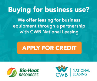 Buying for business use? We offer leasing for business equipment through partnership with CWB National Leasing